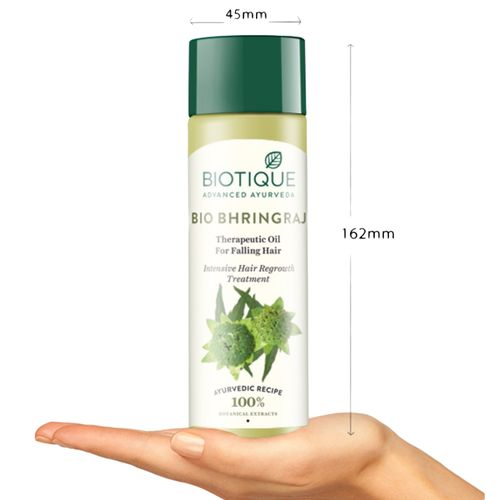 BIOTIQUE Therapeutic Oil - Bio Bhringraj, Fresh Growth, For Fine & Thinning Hair, 200 ml