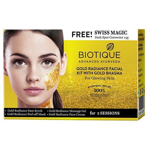 BIOTIQUE Facial Kit - Bio Gold Radiance, With Gold Bhasma, Kit