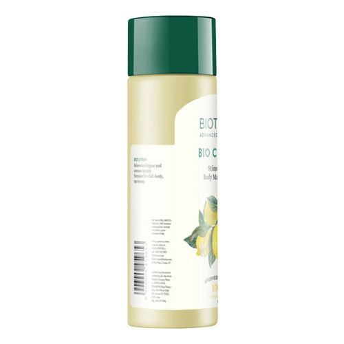 BIOTIQUE Body Massage Oil - Stimulating, Bio Citron, 210 ml