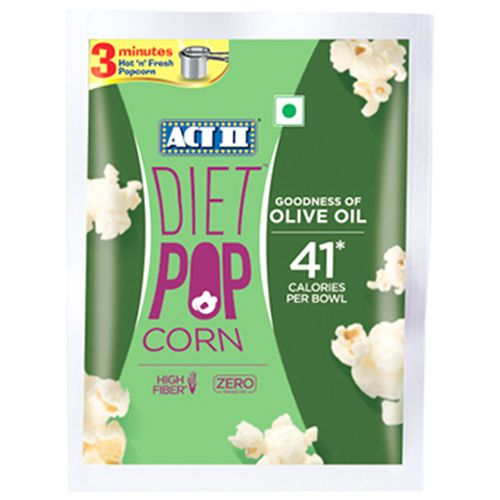 ACT II Instant Diet Popcorn - Contains Olive Oil, 70 g