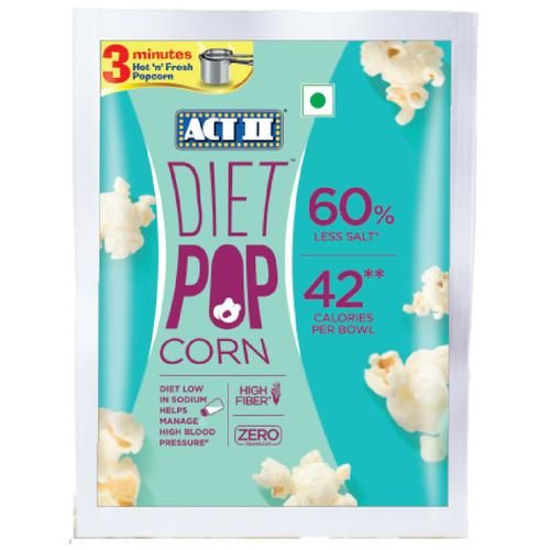 ACT II Instant Diet Popcorn - 60% Less Salt, 70 g