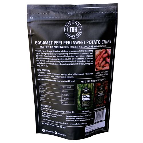 To Be Healthy Chips - Beetroot with Mediterranian Sea Salt, 50 g