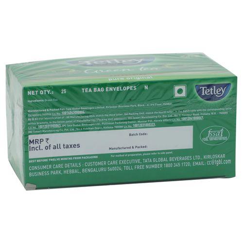 Tetley Green Tea - Pure Original, 32.5 g (25 Bags x 1.3 g each)