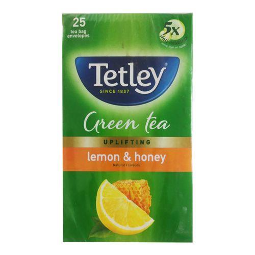 Tetley Green Tea - Lemon & Honey, 37.5 g (25 Bags x 1.5 g each)