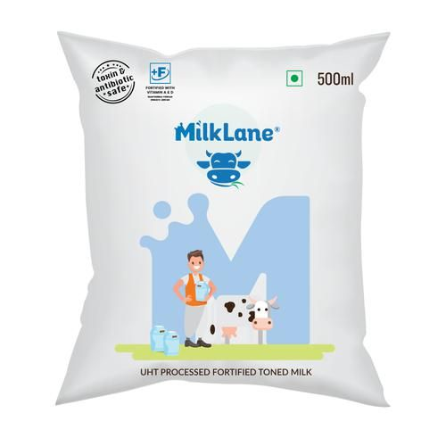 MilkLane UHT Processed Homogenized Toned Milk, 500 ml