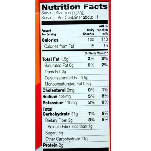 General Mills Cereals - Fruity Cheerios