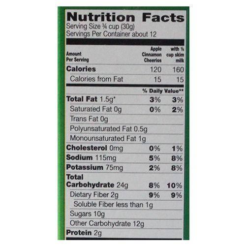 General Mills Cereals - Apple Cinnamon Cheerios, 365 gm