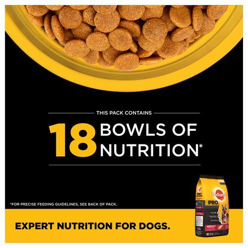 Pedigree Dry Dog Food - PRO, Expert Nutrition for Active Adult Dogs, 18 months onwards, 3 kg