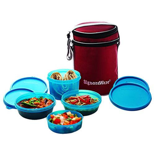 Buy Signoraware Lunch Box Set Perfect With Bag