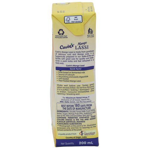 Cavins Lassi - Mango, 180 ml