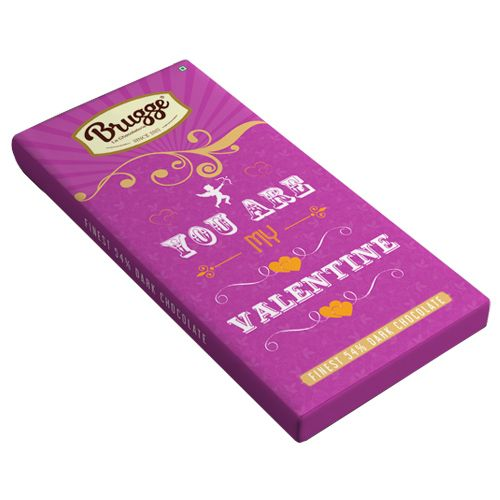 Brugge La Chocolaterie You Are My Valentine - Finest, 54 %, Dark Chocolate, 80 g
