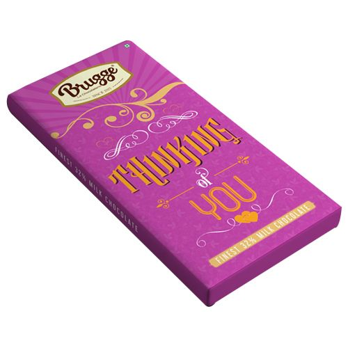 Brugge La Chocolaterie Thinking of You - Finest, 32% Milk Chocolate, 80 g