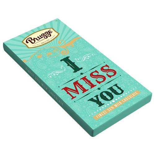 Brugge La Chocolaterie I Miss You - Finest, 32% Milk Chocolate, 80 g