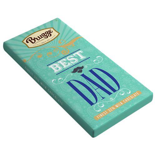 Brugge La Chocolaterie Best Dad - Finest, 32% Milk Chocolate, 80 g