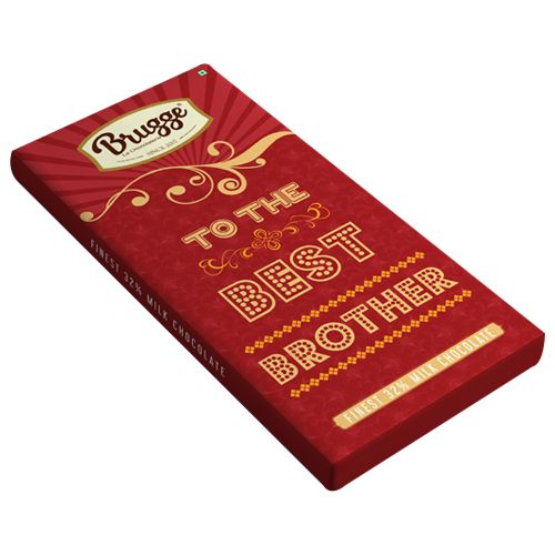 Brugge La Chocolaterie To The Best Brother - Finest, 32% Milk Chocolate, 80 g