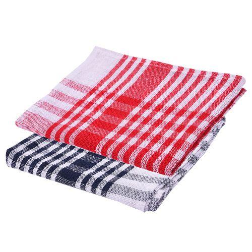 Red Kitchen Towels: Buy Nostaljia Kitchen Towels Red Black 2 Pcs Online At