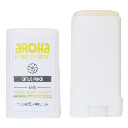 Aroha Natural Deodorant - Citrus Punch, Pocket Size, 12 g