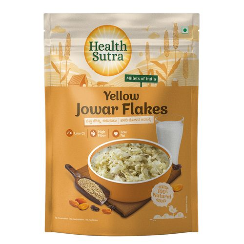 Health Sutra Poha/Flakes - Yellow Jowar, 250 g