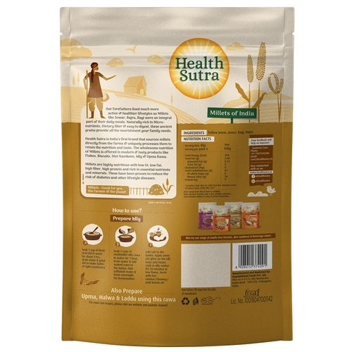 Health Sutra Idly Rawa - Multimillet, Roasted, 500 g