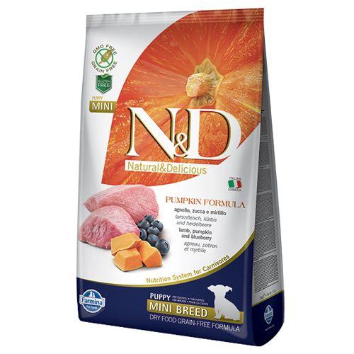 Farmina Pet Food - Lamb & Blueberry, N&D, Grain Free, Pumpkin, Puppy, Mini, 2.5 kg