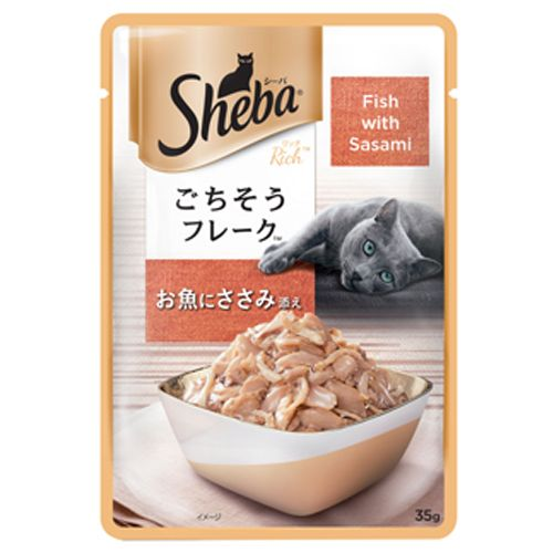 SHEBA Rich Wet Cat Food - Fish with Sasami, For Adult Cats, 35 gm