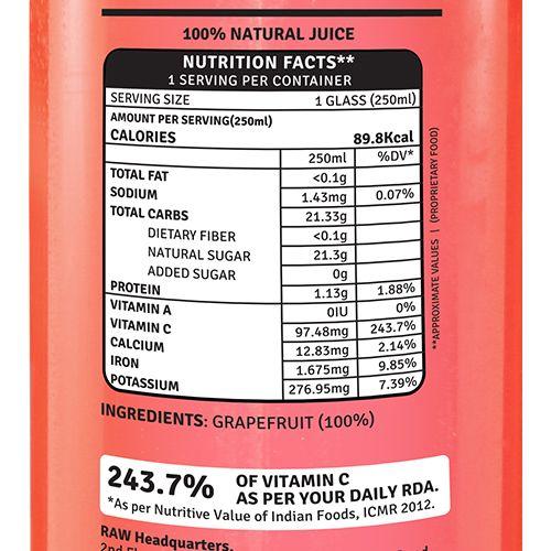 Raw Pressery Grapefruit - 100% Natural Cold Pressed Juice, 250 ml