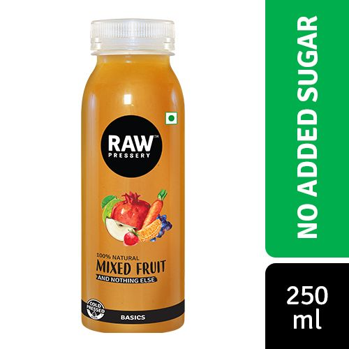 Raw Pressery Mixed Fruit - 100% Natural Cold Pressed Juice, 250 ml