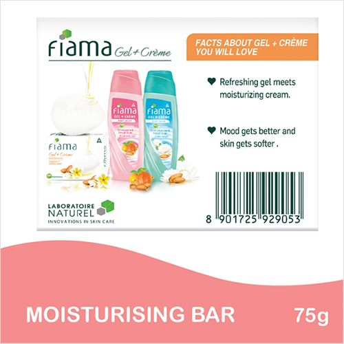 Fiama Soap Bar - Moisturising, Gel + Creme, 75 g
