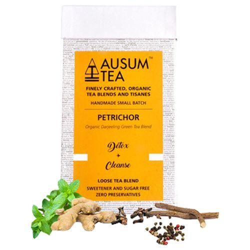 Ausum Tea Tea - Green, Petrichor, Destress & Cleanse, Loose Blend, 20  Teapots