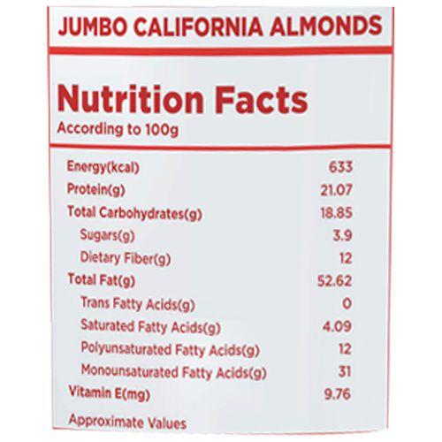Nutty Gritties Almonds - Jumbo, California, 500 gm