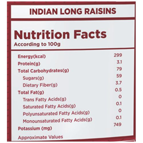 Nutty Gritties Raisins - Indian, Long, 200 gm