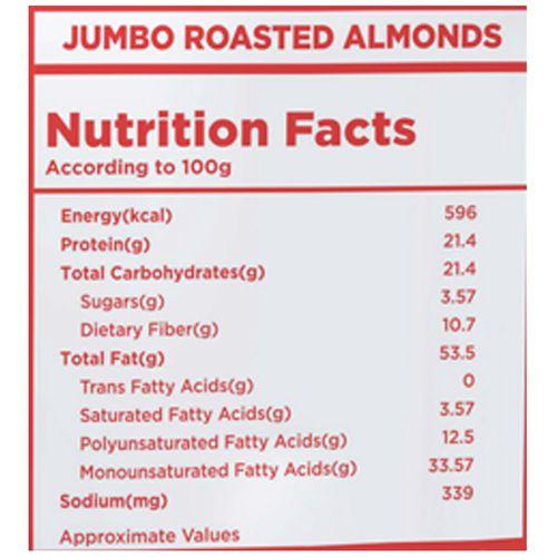Nutty Gritties Almonds - Jumbo, Roasted, Lightly Salted, 200 gm