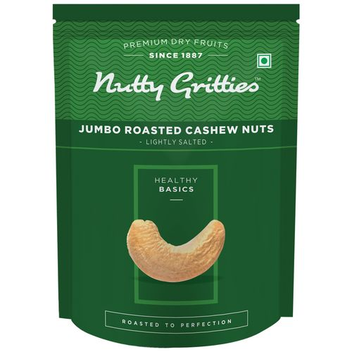 Nutty Gritties Cashewnuts - Jumbo, Roasted, Lightly Salted, 200 gm