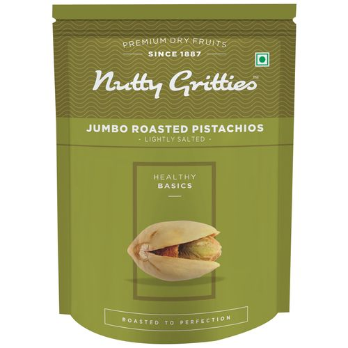 Nutty Gritties Pistachios - Jumbo, Roasted, Lightly Salted, 200 gm