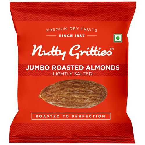Nutty Gritties Almonds - Roasted, Lightly Salted, 16 gm