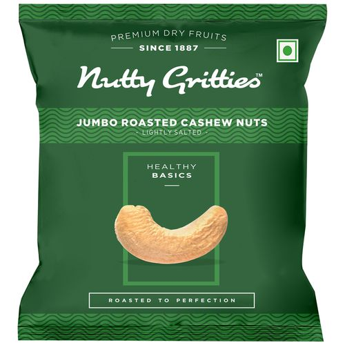 Nutty Gritties Cashewnuts - Roasted, Lightly Salted, 21 gm