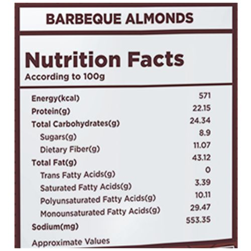 Nutty Gritties Almonds - Barbeque, 200 gm