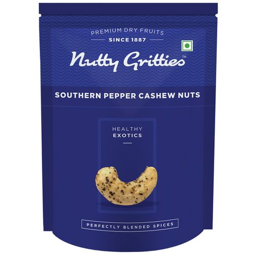Nutty Gritties Cashewnuts - Southern Pepper, 200 gm