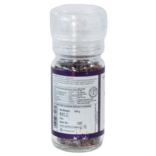 Lunn Salt - Black, Grinder, 100 gm