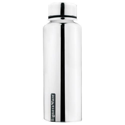 Signoraware Steel Water Bottle - Aqua Gloss, 500 ml