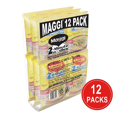 MAGGI  2-Minute Noodles - Masala, 840 gm Pack of 12