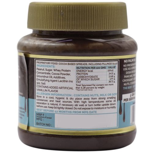 Jindal Cocoa (I) Spread - Chocolate Peanut, High Protein, 160 g