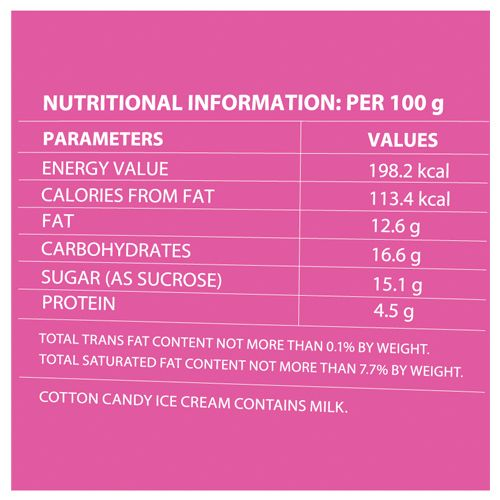 Baskin Robbins Ice Cream - Cotton Candy, 450 ml