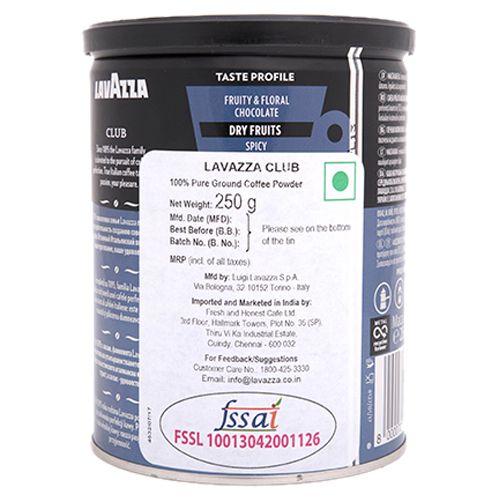 Lavazza Ground Coffee - Club, 250 g Tin