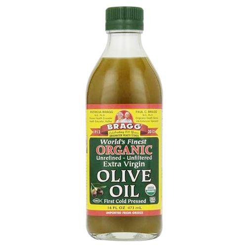 Bragg Olive Oil - Organic, Extra Virgin, 473 ml Bottle