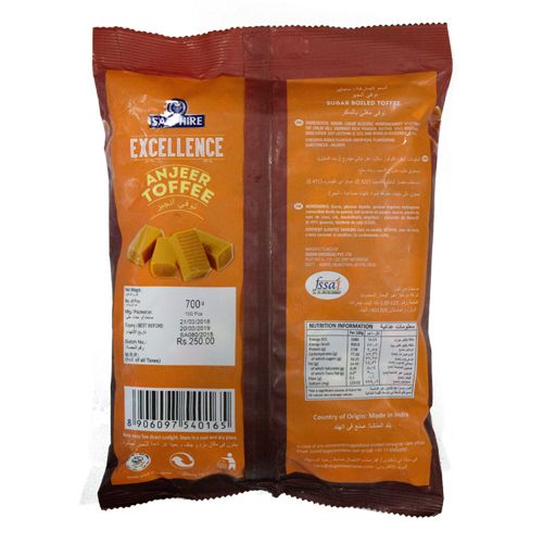 Sapphire Toffees - Excellence Anjeer, 700 gm