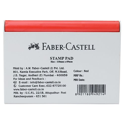 Faber castell Stamp Pad - Red, Medium, 1 pc