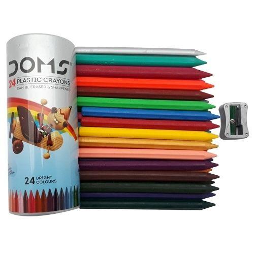 Buy Doms Plastic Crayons 24 Shades 24 Pcs Online At Best