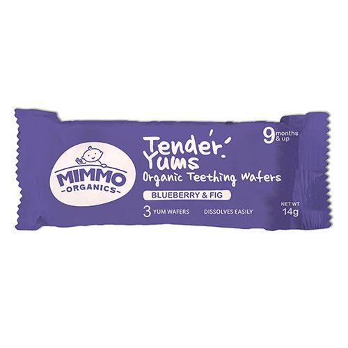 Mimmo Organics Teething Wafers - Blueberry & Fig, Tender Yums, 100 gm