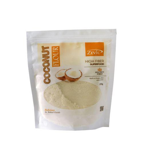 Zevic Flour - Zevic Coconut, High Fibre Super Food, 250 g Pouch